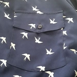 Notations Tops - Notations Womens Shirt Long Sleeve Navy 2X